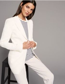 Pure Linen Single Breasted Blazer by Autograph