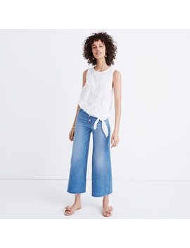 Embroidered Side Tie Tank by Madewell