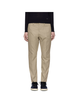 Beige Hockney Trousers by Dsquared2