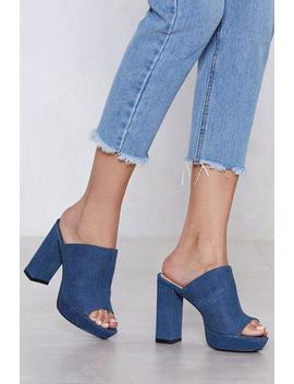 Patch Up Denim Mule by Nasty Gal