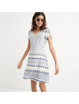Silk Poppy Dress In Ionian Tile by Madewell