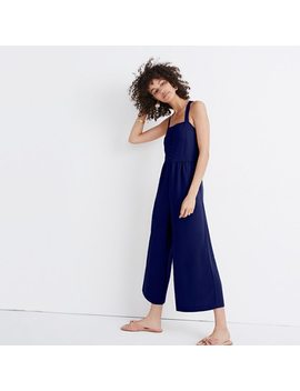 Smocked Button Front Crop Jumpsuit by Madewell