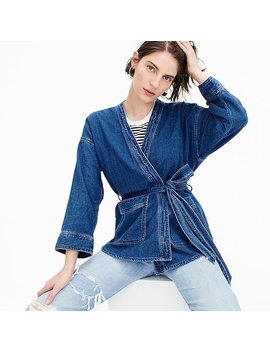 Denim Wrap Jacket In Deep Indigo Wash by J.Crew
