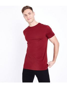 Rust Short Sleeve Muscle Fit T Shirt by New Look