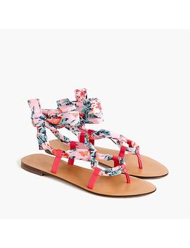 Wrap Around Sandals In Liberty® Floral by Wrap Around Sandals In Liberty