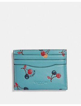 Card Case With Cherry Print by Coach