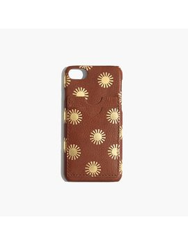 Leather Carryall Case For I Phone® 6/7/8: Sun Embossed Edition by Madewell
