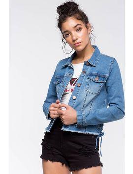 Lace Side Denim Jacket by A'gaci