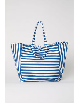Strandtasche Aus Baumwolltwill by H&M