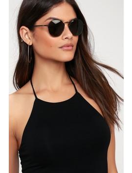 The Joy Brigade Matte Black Sunglasses by Crap Eyewear