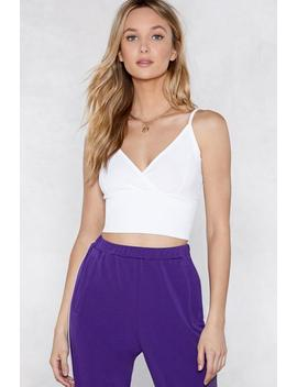 Come A Little Closer Crop Top by Nasty Gal