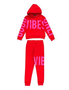 Girls Good Vibes Printed Tracksuit Set by Boohoo