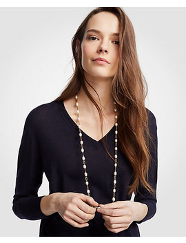 Pearlized Station Necklace by Ann Taylor