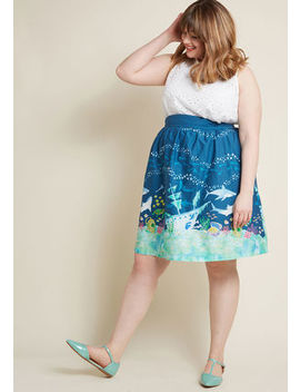 Style Study A Line Skirt In Sharks In M Style Study A Line Skirt In Sharks In M by Modcloth
