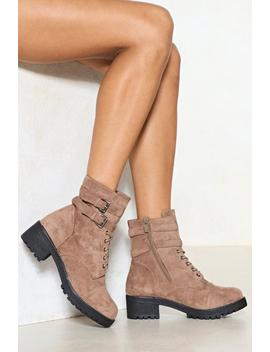 Hit The Road Vegan Suede Boot by Nasty Gal