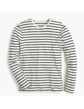 J.Crew Mercantile Broken In Long Sleeve T Shirt In Deck Stripe by J.Crew