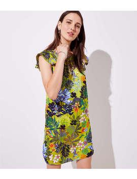 Flutter Satin Dress by Loft