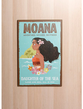 Disney Moana Sea Daughter Wood Poster by Hot Topic