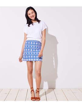 Petite Eyelet Stripe Shift Skirt by Loft