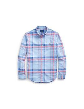 Slim Fit Plaid Oxford Shirt by Ralph Lauren