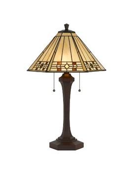 Cal Lighting 60 W X 2 Tiffany Table Lamp by Cal Lighting