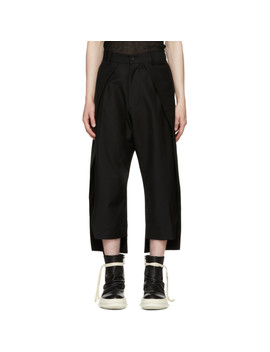 Black Front Panel Trousers by D.Gnak By Kang.D