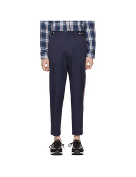 Blue P Tucs Tape Chino Trousers by Diesel