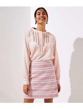 Petite Stripe Textured Pocket Skirt by Loft