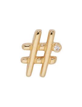 Gold Hashtag Earring by Marc Jacobs