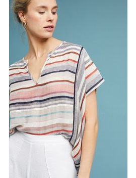 Yarn Dyed Stripe Blouse by Love Sam