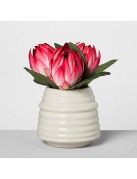 Artificial Protea Arrangement   Pink   Opalhouse™ by Opalhouse™