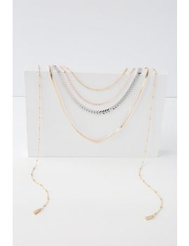Zuri Gold Multi Layered Necklace by Lulus