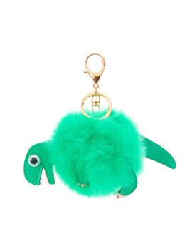 Pom Pom & Dinosaur Design Keychain by Sheinside