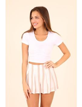 Last Call  Dusty Rose Striped Shorts by Hazel & Olive