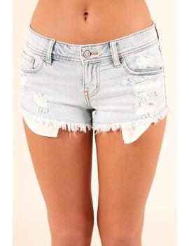 South Pacific Low Rise Cut Off Shorts  Light Wash by Hazel & Olive