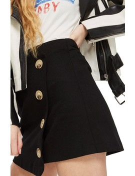 Twill Asymmetrical Wrap Skirt by Topshop