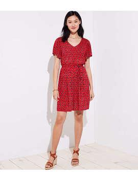 Ikat Tie Waist Flare Dress by Loft