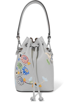 Mon Tresor Embroidered Leather Bucket Bag by Fendi