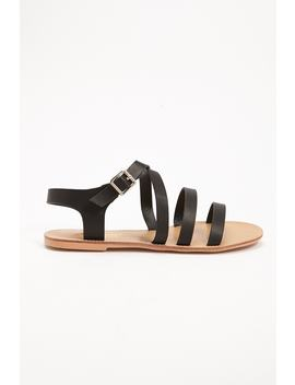 Strappy Faux Leather Sandal by Forever 21