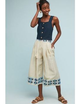 Kimpton Embroidered Wide Leg Pants by Endless Rose