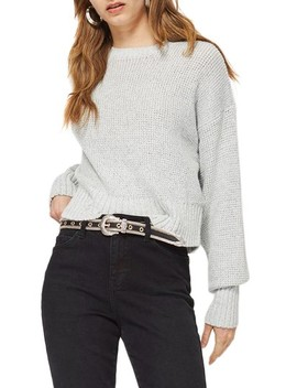Petite Crop Sweater by Topshop