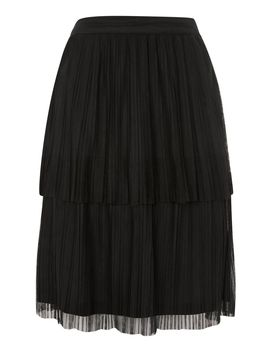 **Crinkle Layer Skirt By Lace & Beads by Topshop