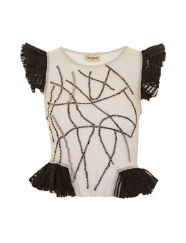 **Rohu Top By Lace & Beads by Topshop
