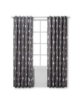 Light Blocking Curtain Panel Trees   Cloud Island™   Gray by Shop Collections