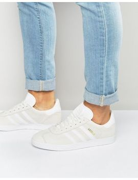 Adidas Originals Gazelle Sneakers In White Bb5475 by Adidas Originals