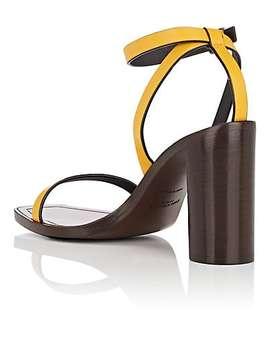 Leather Ankle Strap Sandals by Saint Laurent