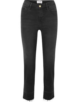 Le Nouveau 高腰直筒牛仔裤 by Frame