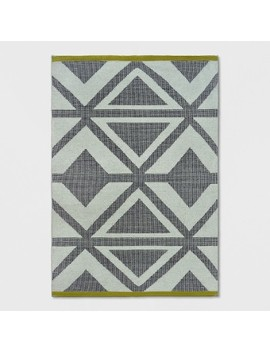 Black/Chevron/Yellow Bordered Woven Area Rug   Project 62™ by Shop Collections