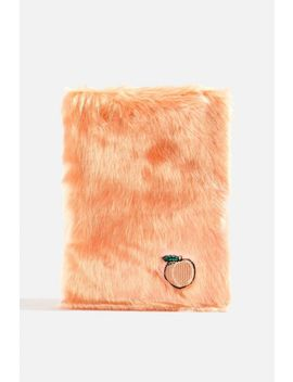 **Fluffy Peach Notebook By Skinny Dip by Topshop
