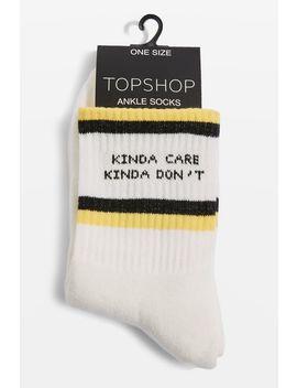 'kinda Care Kinda Don't' Tube Socks by Topshop